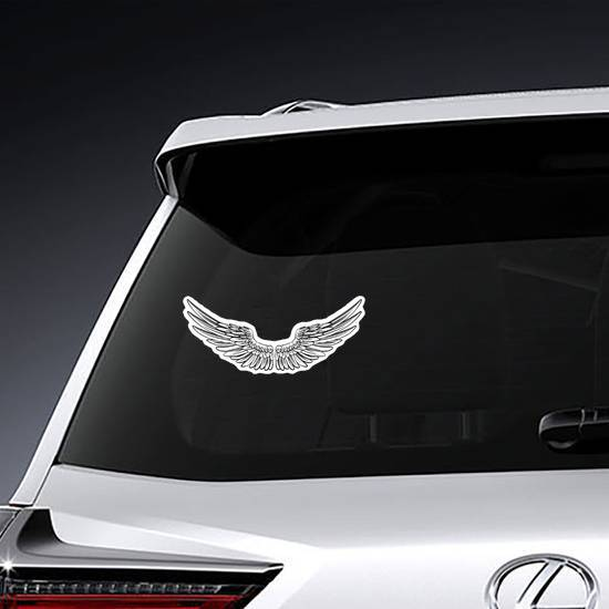 Pair Of Spread Out Angel Wings example