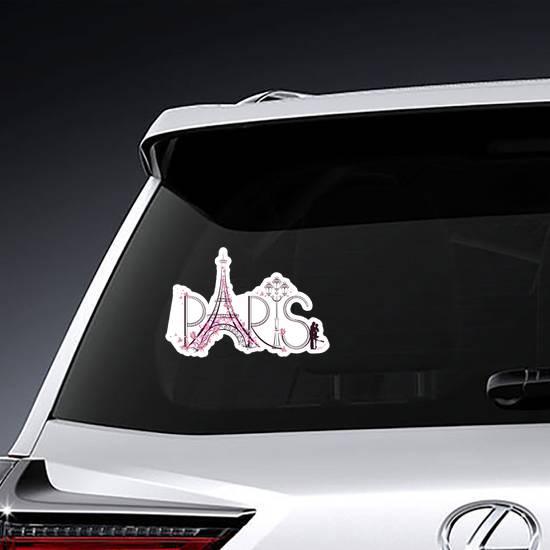 Pink Paris Artwork Sticker example