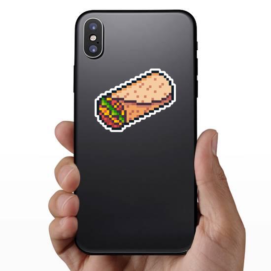 Pixel Art Burrito Sticker