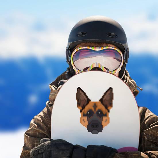 Pixel Art German Shepherd Head Sticker