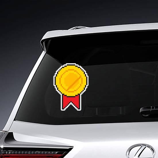 Pixel Art Golden Medal Award Sticker example
