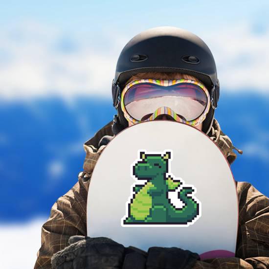 Pixel Art Happy Dragon Sticker