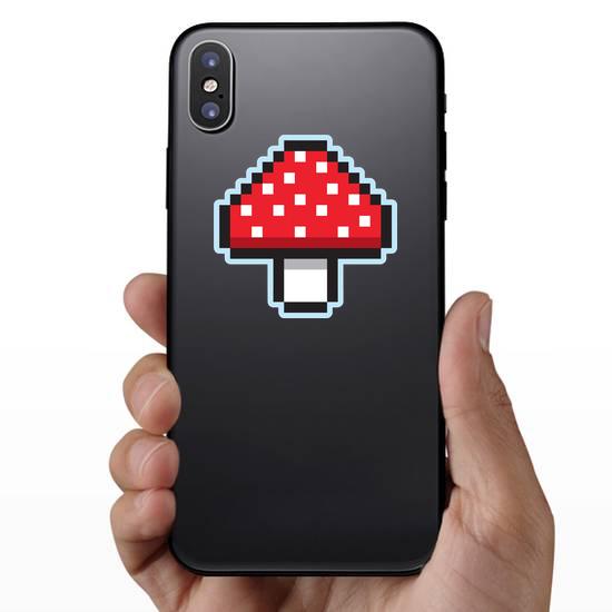 Pixel Art Mushroom Sticker