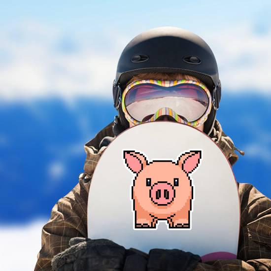 Pixel Art Pig Sticker