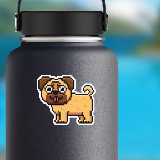 Pixel Art Pug Dog Sticker
