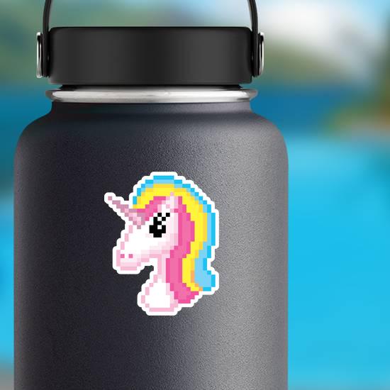 Pixel Art Unicorn Head Sticker