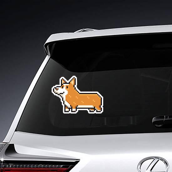 Pixel Art Welsh Corgi Dog Sticker