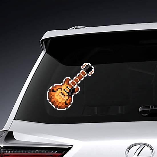 Pixelated Guitar Sticker