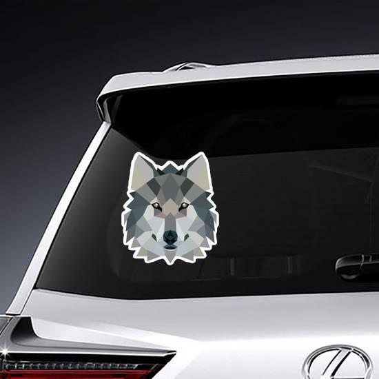 Polygonal Style Illustration Wolf Sticker