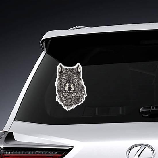 Proud Zentangle Wolf Sticker