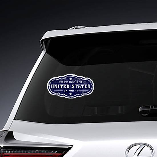 Proudly Made In The United States Of America Sticker