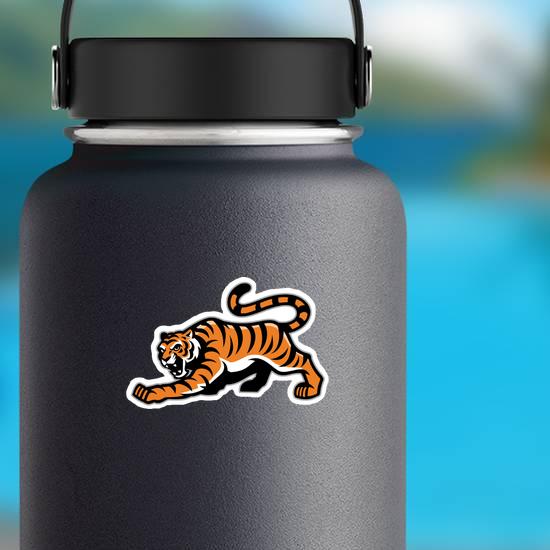 Prowling Tiger Mascot Sticker