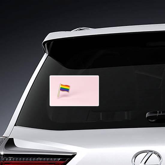 Rainbow Lgbtq Pink Flag Sticker example