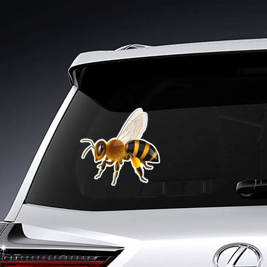 Realistic Honey Bee Sticker