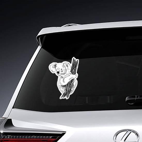 Realistic Koala Illustration Sticker