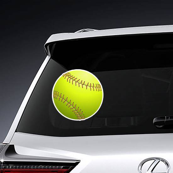 Realistic Softball Sticker example
