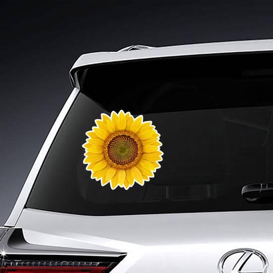 Realistic Sunflower Sticker