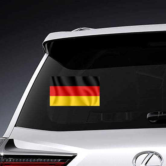 Realistic Waving Flag Of Germany Sticker example