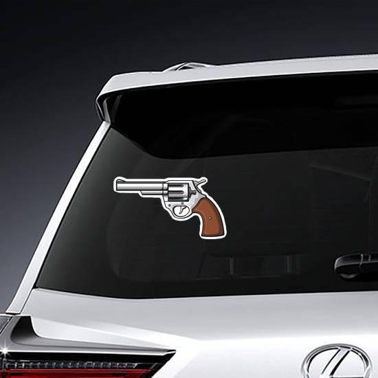 Revolver Handgun Sticker