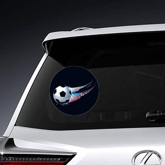 "Russian Hand Flag Car Bumper Sticker Decal 4/"" x 5/"""