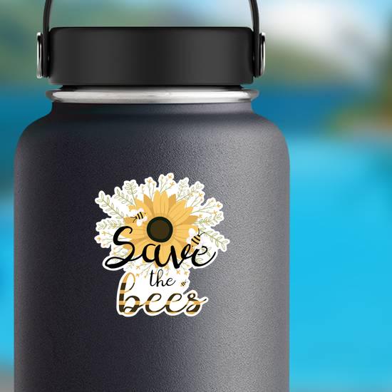 Save The Bees Flower Bouquet Sticker