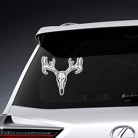 Scary Deer Skull Sticker