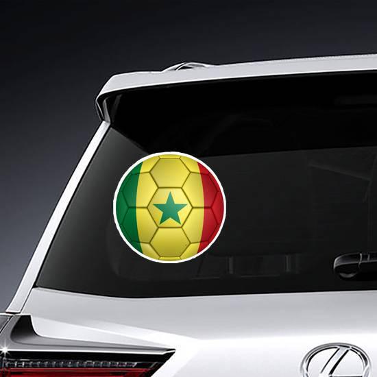Senegal Flag Soccer Ball Sticker