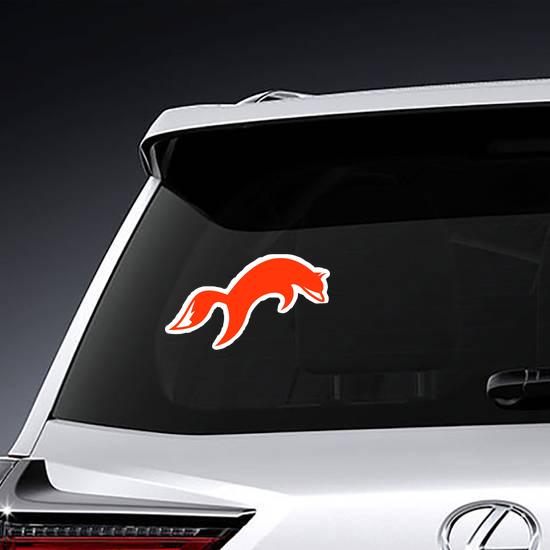 Simple Fox Logo Design Sticker