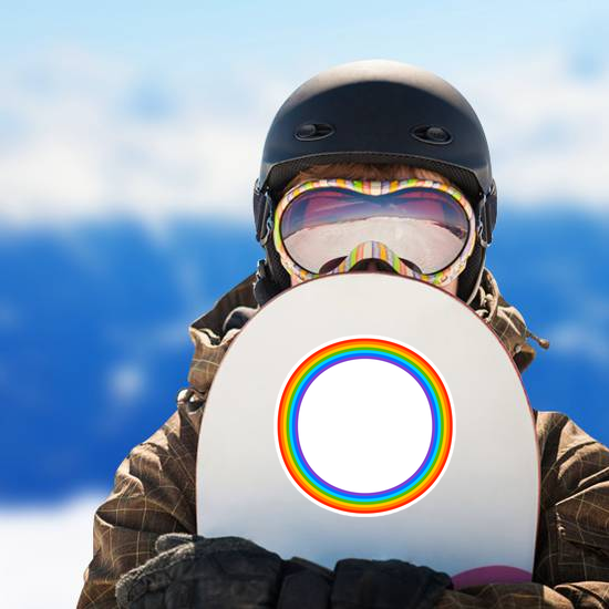 Simple Round Rainbow Circle Sticker
