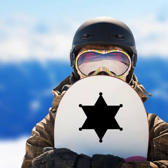 Simple Sheriff 6 Point Star Sticker