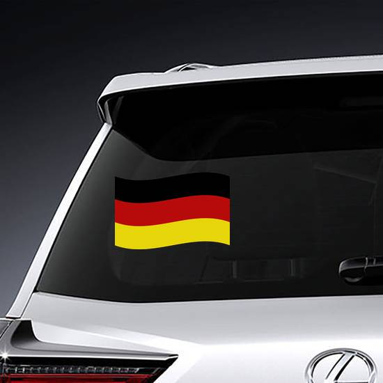 Simple Waving Germany Flag Sticker example