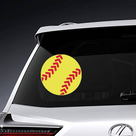 Simple Yellow Softball Sticker
