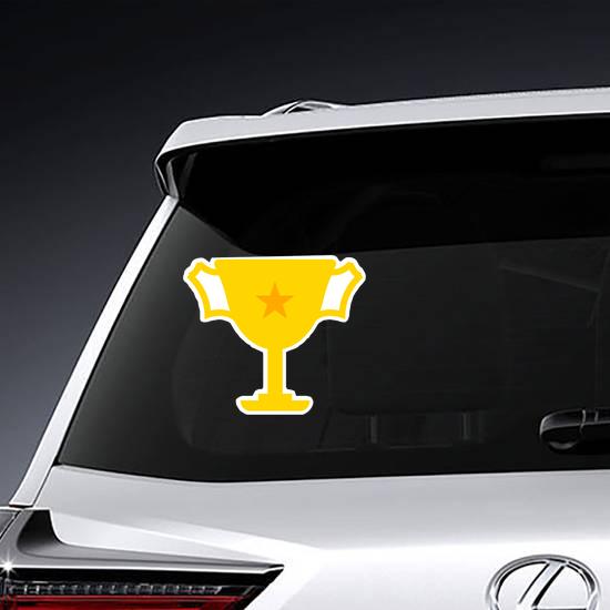 Single Star Trophy Sticker