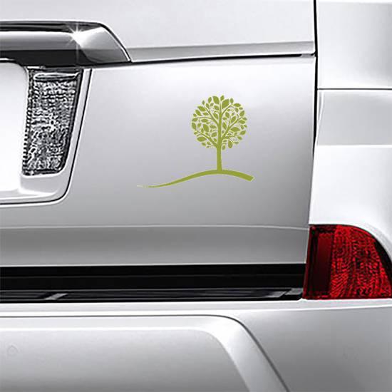 Small Tree On A Hill Sticker