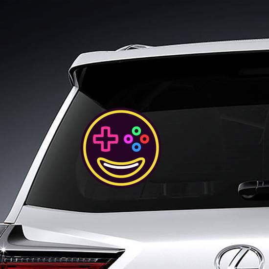 Smiling Gamer Emoji Sticker example