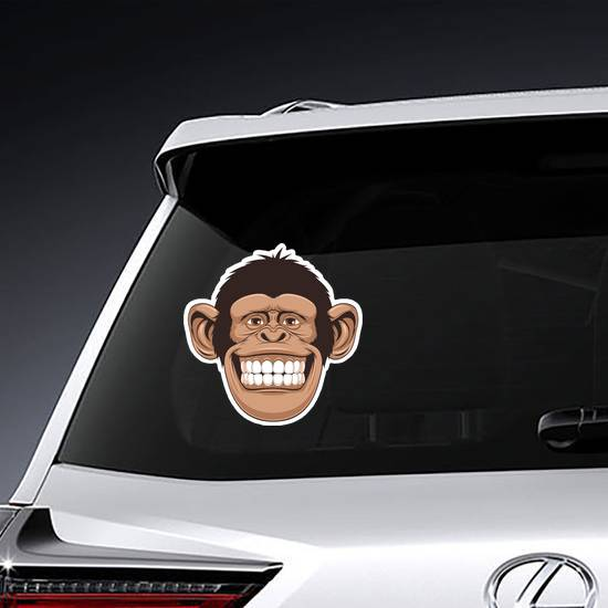 Smiling Monkey Face Sticker