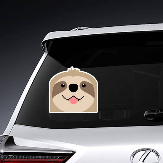 Smiling Sloth Face Sticker
