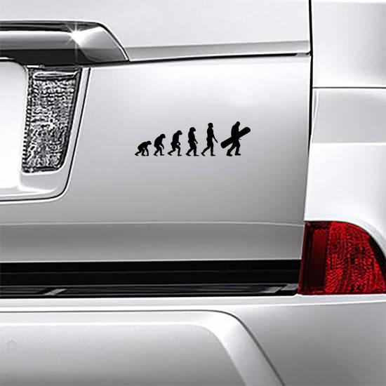 Snowboarder Evolution Silhouette Sticker