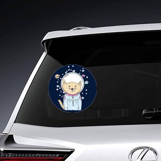 Space Cat Astronaut Sticker example