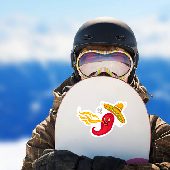 Spicy Chili Pepper Spitting Flames Sticker