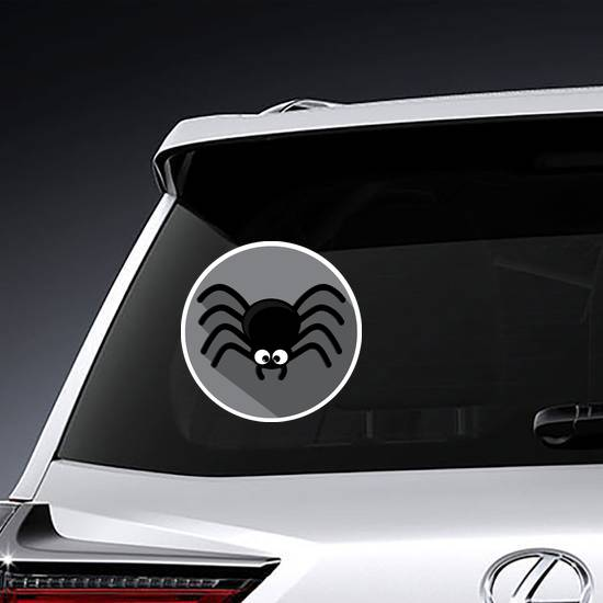 Spider Icon With Shadow Circle Sticker