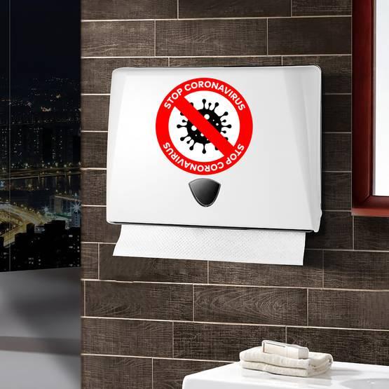 Stop Coronavirus Red Prohibit Sticker