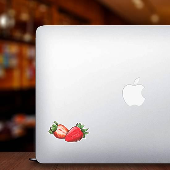 Strawberry In Vintage Sticker