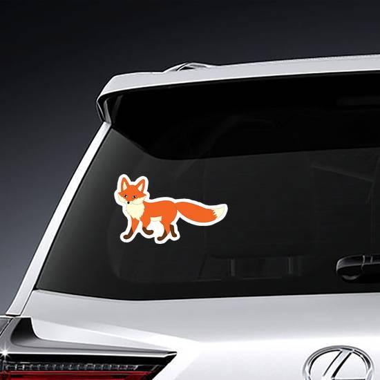 Strolling Cartoon Fox Sticker