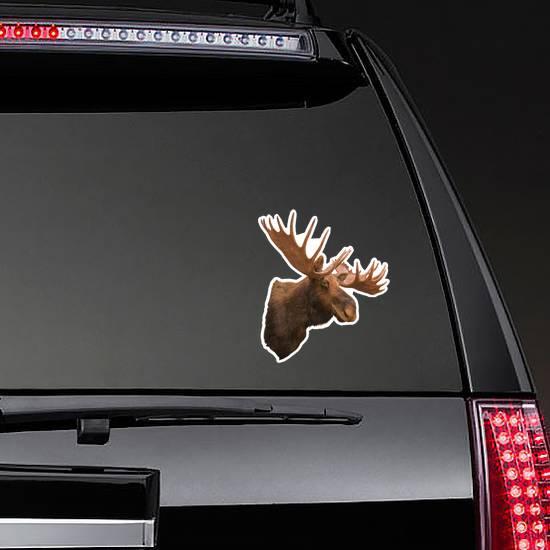 Stuffing Moose Sticker