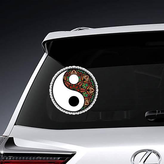 Stylized Yin And Yang Tao Mandala Symbol Sticker