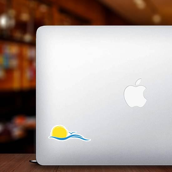 Sun and Sea Wave Sticker