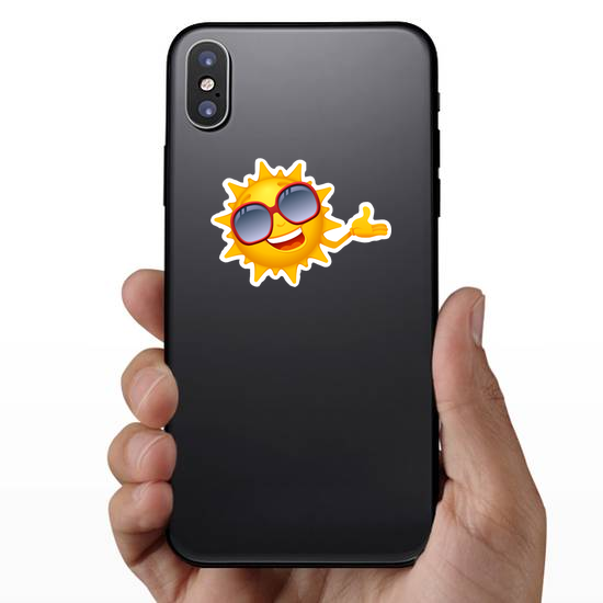 Sun with Large Red Sunglasses Sticker