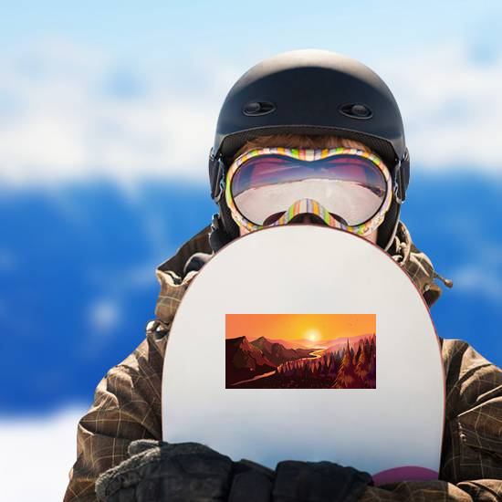 Sunrise In The Beautiful Canadian Mountains Sticker