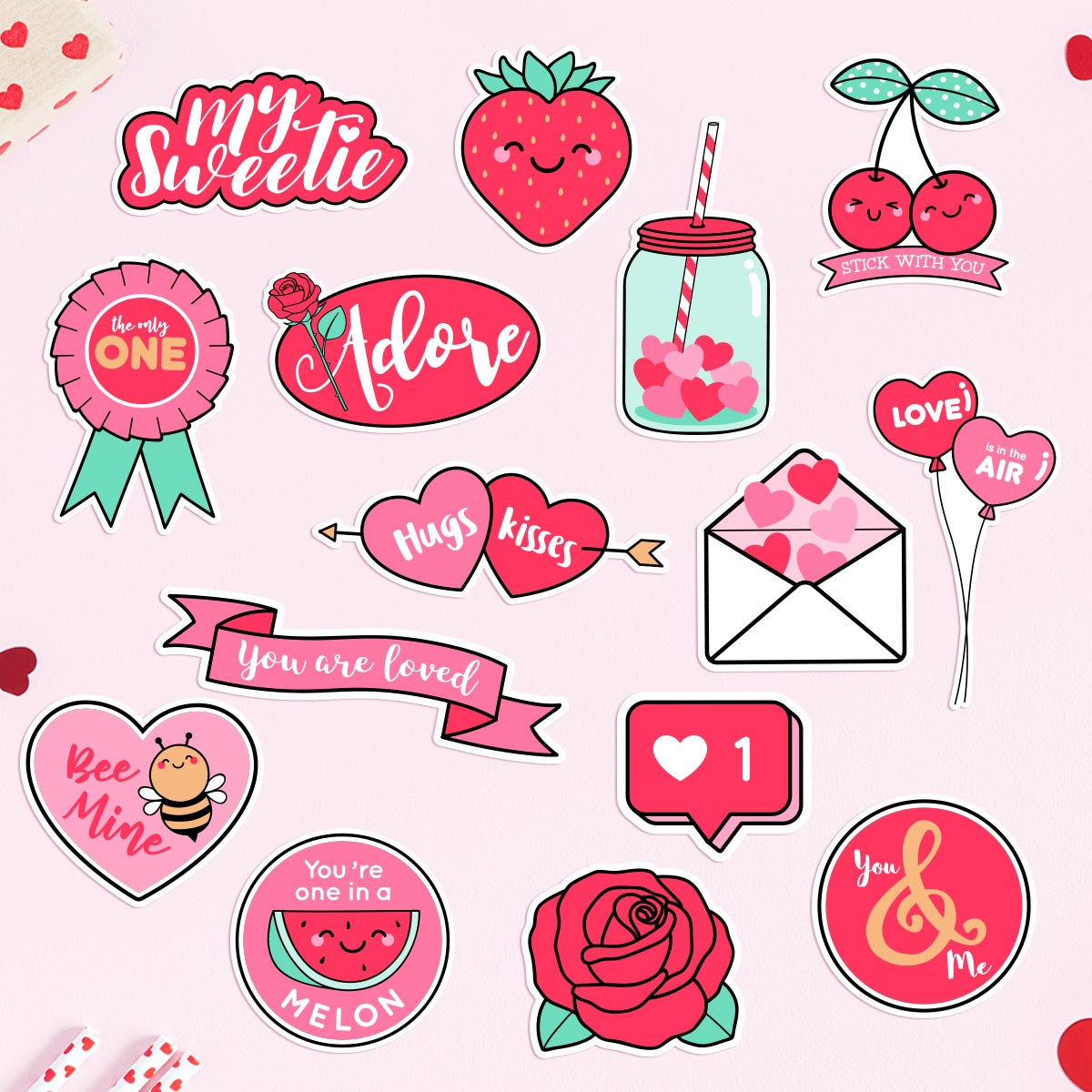 Sweet On You - Valentine's Day Sticker Pack